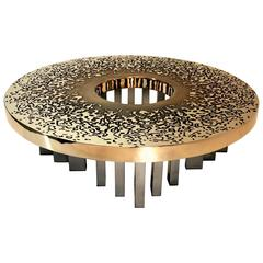 Exceptional Large Sculptural Solid Bronze Coffee Table