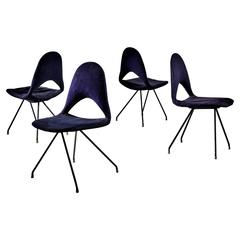 Gastone Rinaldi Set of Four Chairs for RIMA, Italy, 1950s