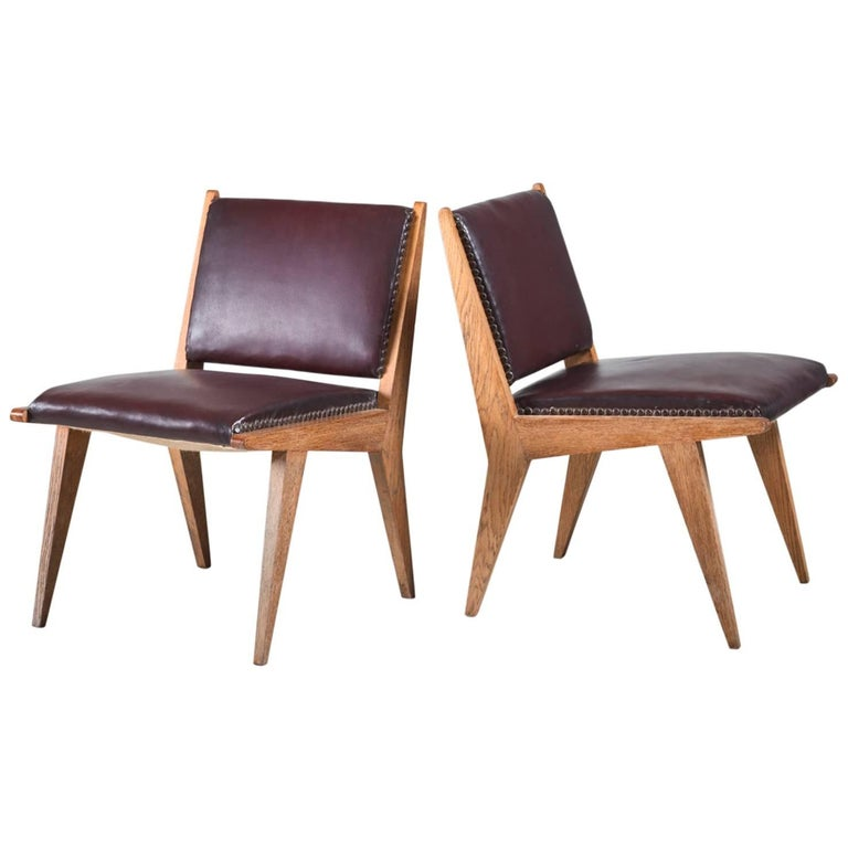 Pair of Italian Side Chairs, 1950s