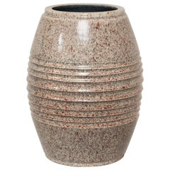 French Art Deco Stoneware Vase by Willy Wuilleumier Executed by Marcel Guillard