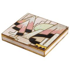 Jean Goulden French Art Deco Champlevé Enamel Copper Box