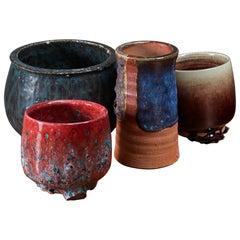 Rolf Palm set of four ceramic vases, Sweden, 1970s