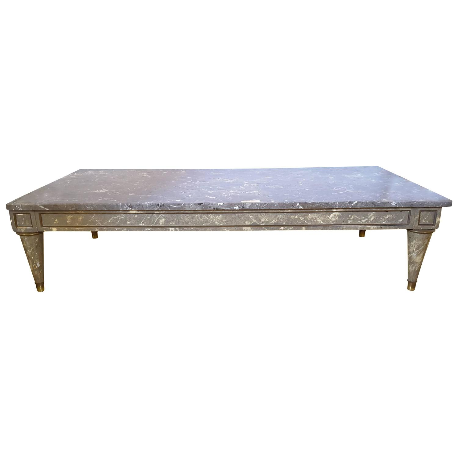 Marble Coffee Table For Sale Singapore: Faux Marble-Top Coffee Table For Sale At 1stdibs