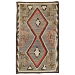 Antique Navajo Rug, Handmade Rug, Oriental Rug, Grey Rug