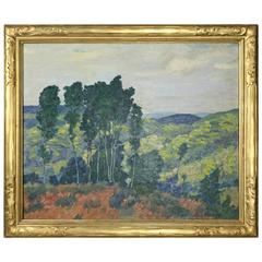 Framed Oil on Canvas by Alfred Feinberg with Newcomb Macklin Frame