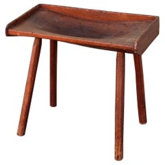 19th Century Butcher Block Side Table