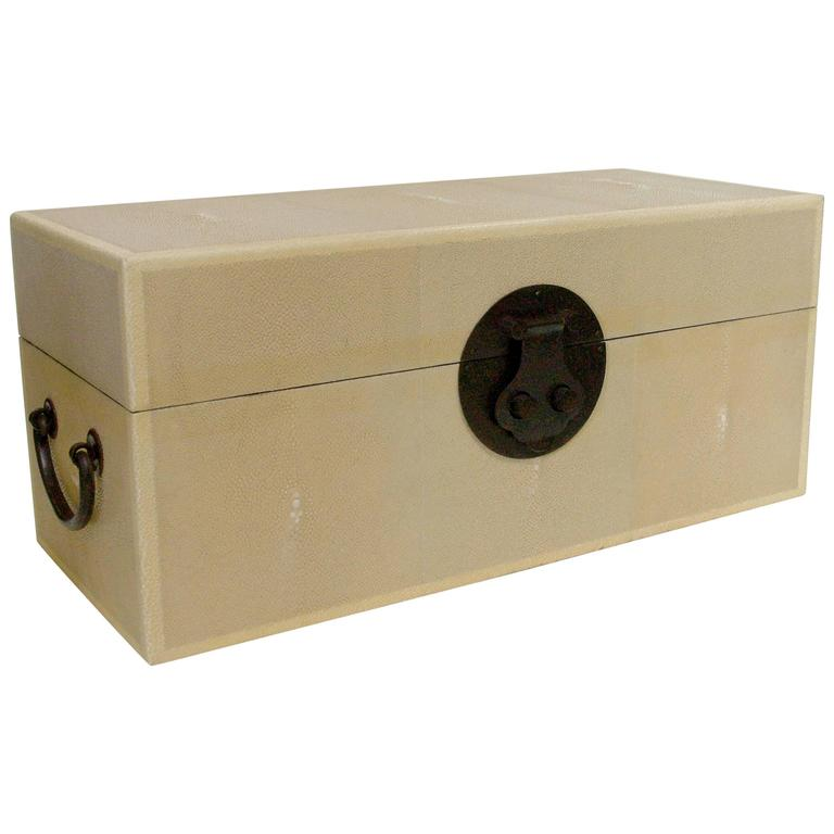 Ivory Shagreen Wood Box