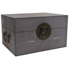 Gray Shagreen Wood Box