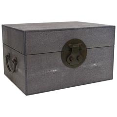 Gray Shagreen Wood Box