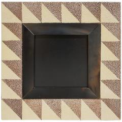 """Shagreen and Horn Photo Frame for 4"""" x 4"""""""