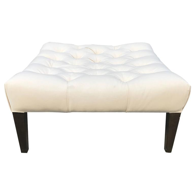 ottomans with storage tufted ottoman for at 1stdibs 10019