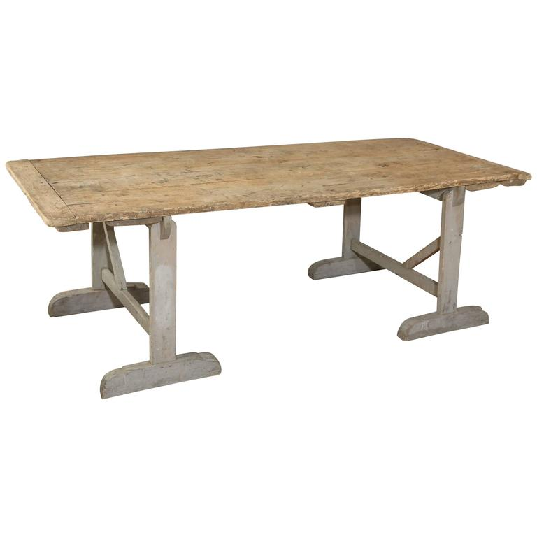 Rustic French Sawhorse Table For Sale At 1stdibs