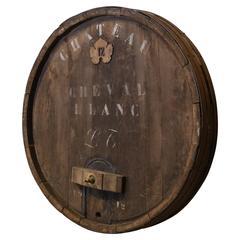 Large Antique Wine Barrel Facade