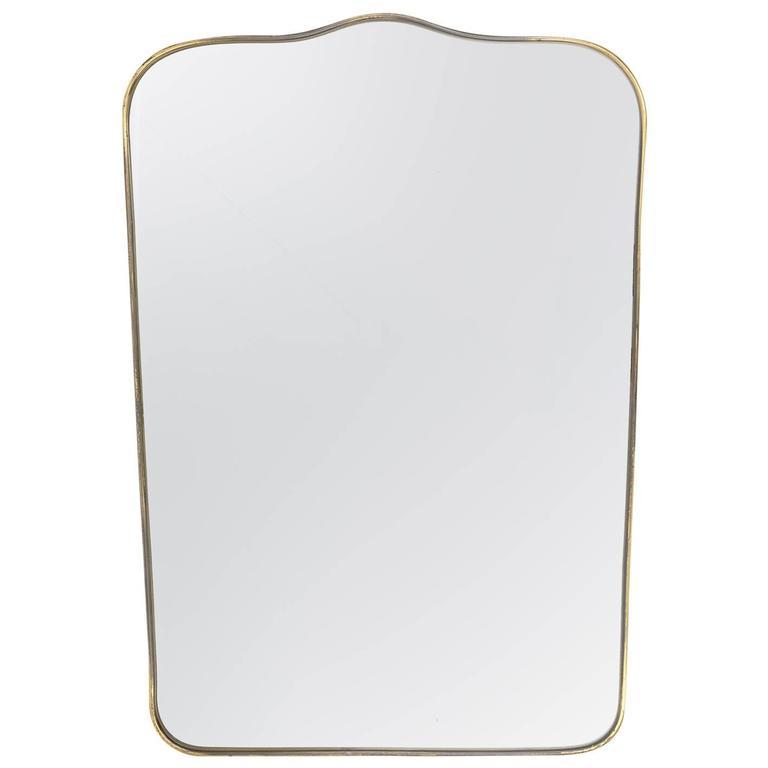Italian 1950s Brass Mirror
