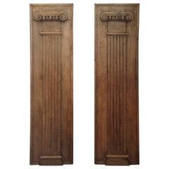 Pair of French Oak Columns, circa 1840