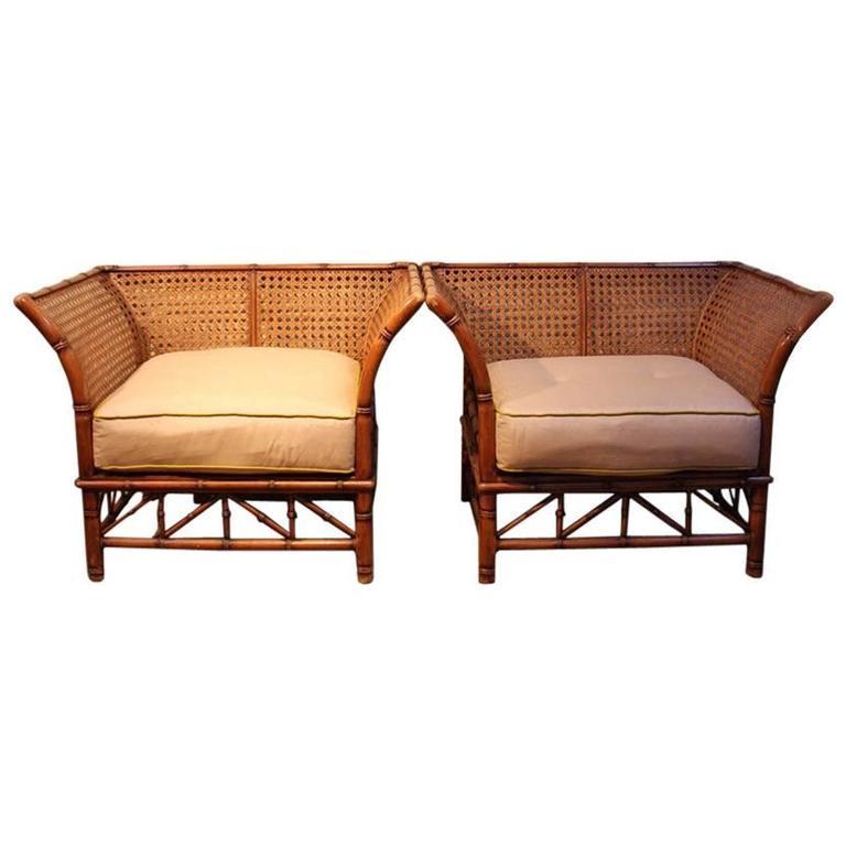 elegant pair of 1970s italian rattan armchairs at 1stdibs