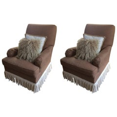 Pair of Large Luxurious Hickory Chair Club Chairs
