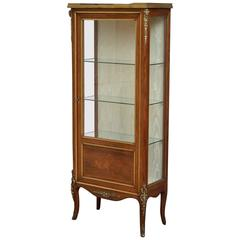 Continental Vitrine, Rosewood Display Cabinet