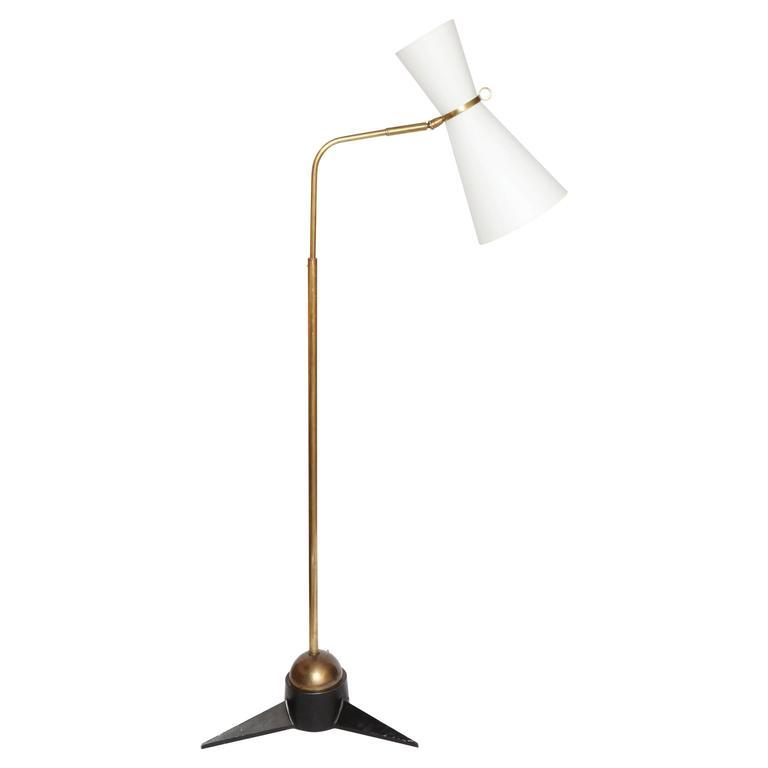 Robert Mathieu Articulated Floor Lamp, 1950s, France