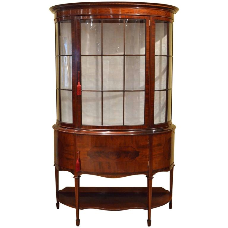Grand Edwardian Mahogany Display Cabinet 1 - Grand Edwardian Mahogany Display Cabinet For Sale At 1stdibs