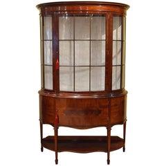 Grand Edwardian Mahogany Display Cabinet