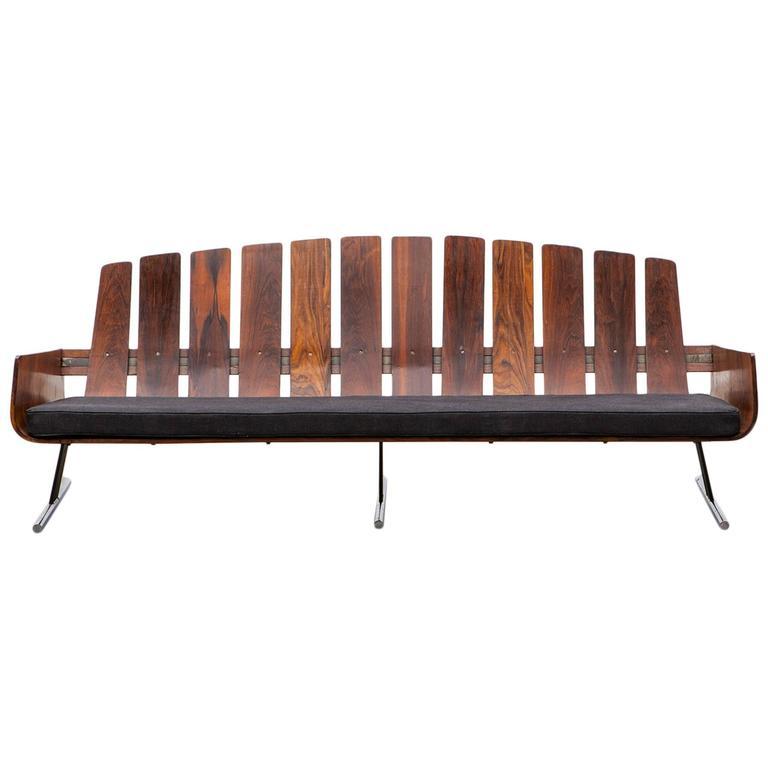 Jorge Zalszupin Sofa New Upholstery For Sale At 1stdibs