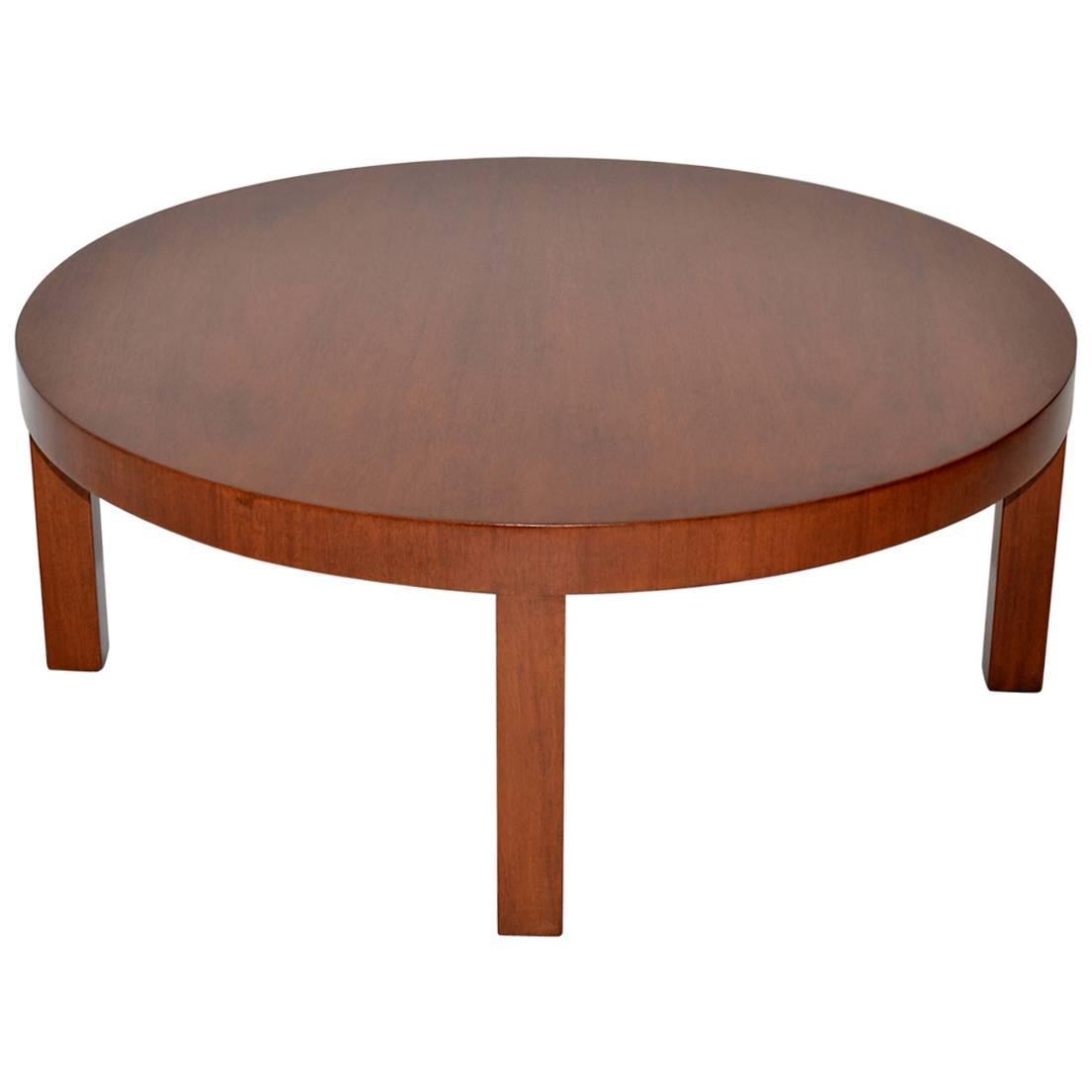 Minimalist Robsjohn Gibbings Coffee Table In Mahogany For Sale At 1stdibs