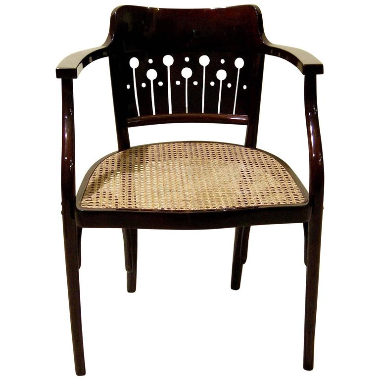 High Quality Thonet Vienna Art Nouveau Otto Wagner Armchair Number 6141, Circa 1905 1