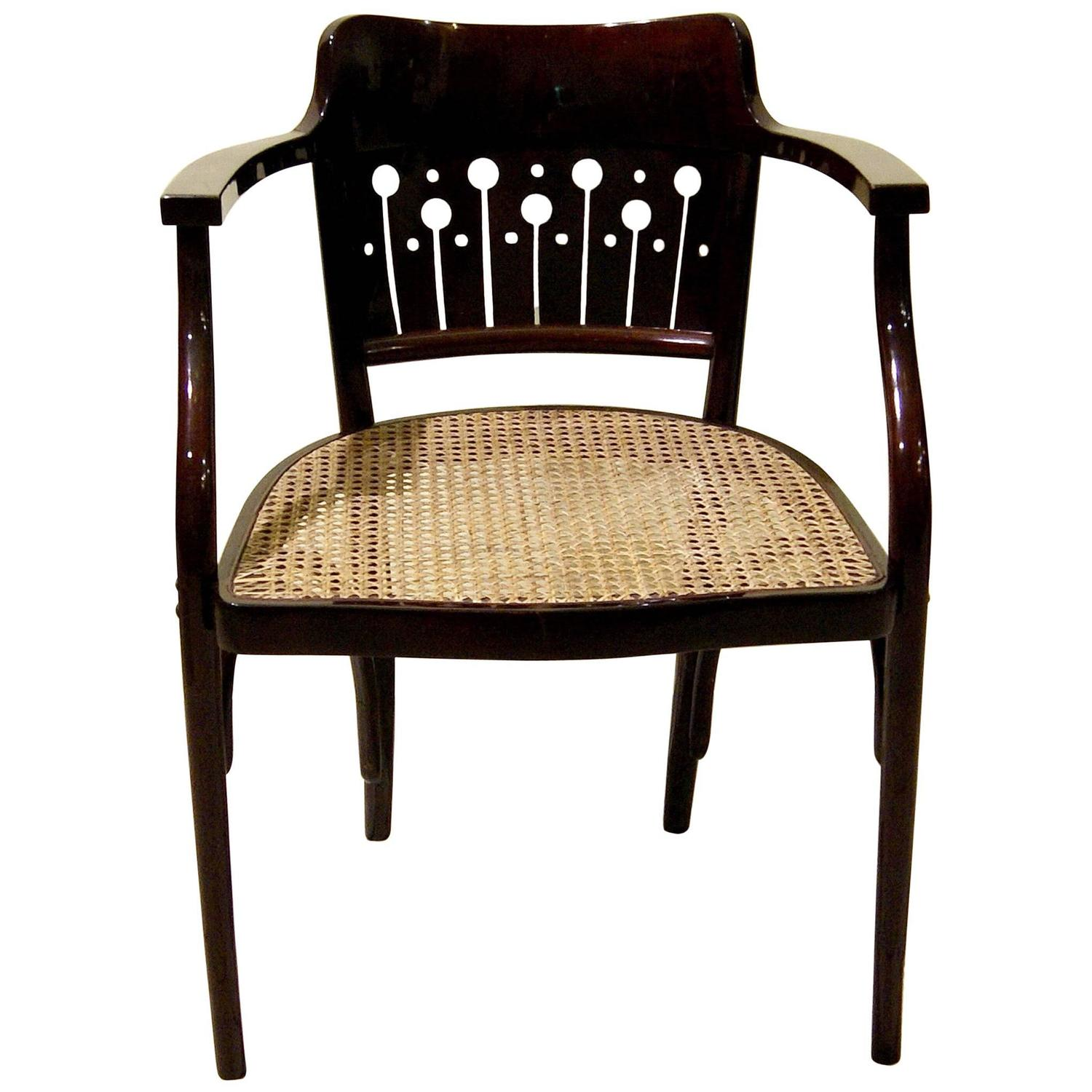 thonet vienna art nouveau otto wagner armchair number 6141 circa 1905 for sale at 1stdibs. Black Bedroom Furniture Sets. Home Design Ideas