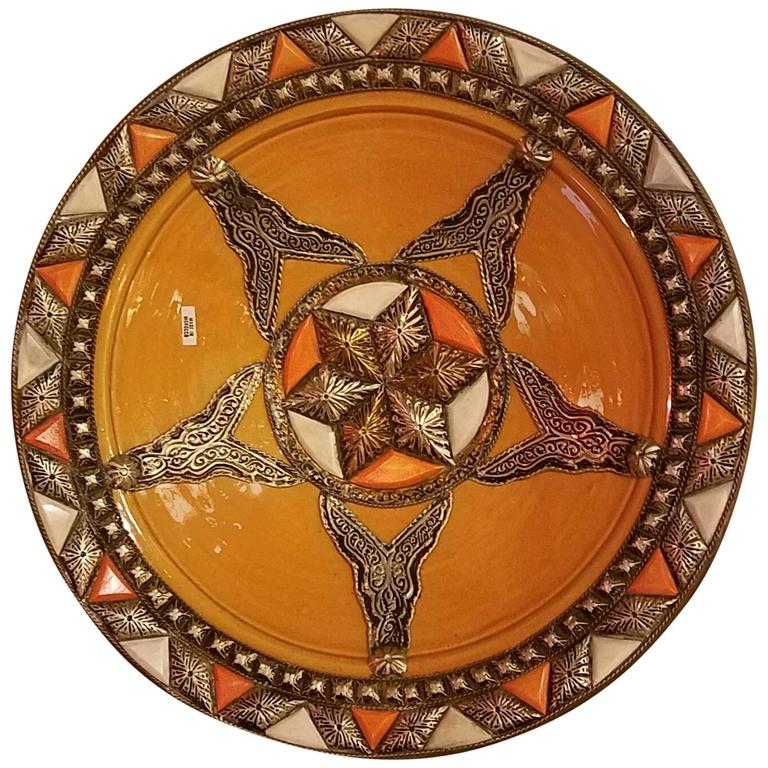 Moroccan Ceramic Camel Bone Plate Decorative Only For Sale  sc 1 st  1stDibs : moroccan decorative plates - pezcame.com