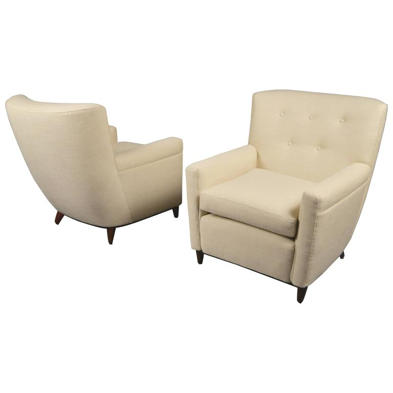 Pair of Armchairs by Guglielmo Ulrich, Italy, circa 1950 1