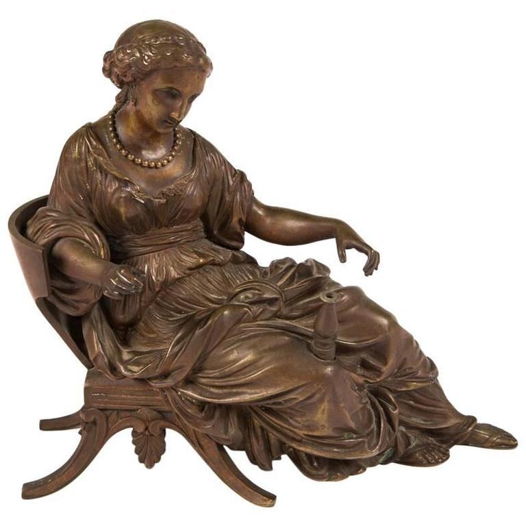 Bronze Sculpture of a Reclining Woman