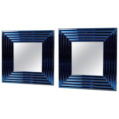"Pair of ""Velluto"" Mirrors by Roberto Rida, Italy, Contemporary"