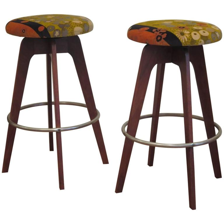 Pair Of 1960s Bar Stools At 1stdibs