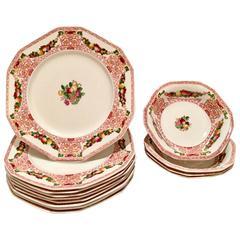 "Antique Alfred Meakin,  England ""Lawton"" Dinnerware, S/13"