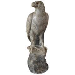 Antique Marble Eagle / Bald Eagle Sculpture w. Signature Rare & Impressive Art