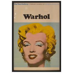 Andy Warhol and Marilyn Monroe Poster from the Tate Gallery
