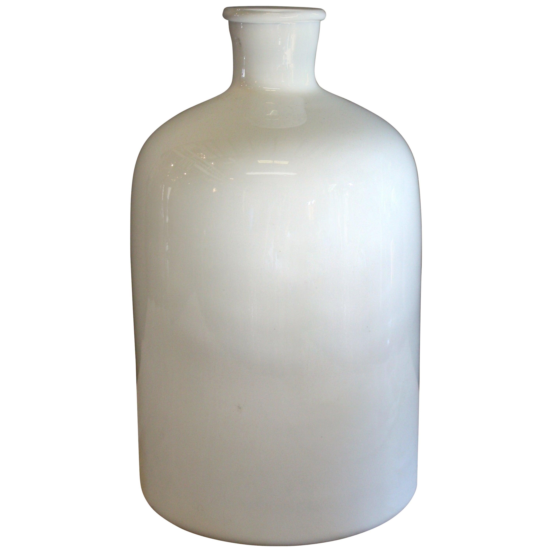 Colorful Mid Century Modern Large Viking Art Glass Vase For Sale