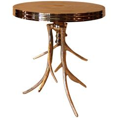 Silver Gilt Antler Table