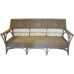 Lacquered Rattan Sofa