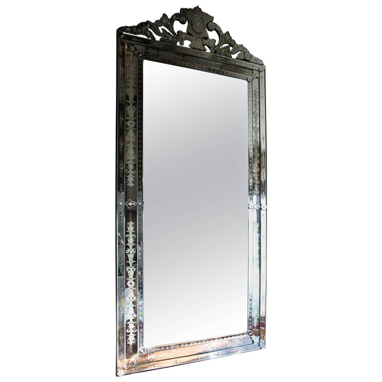 Venetian floor mirror at 1stdibs for Floor length mirror for sale