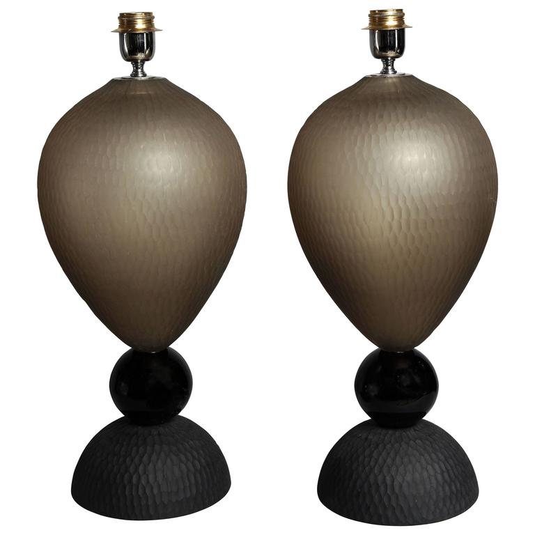 Pair of Venetian Glass Table Lamps