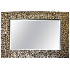 Silver Gilt Textured Mirror