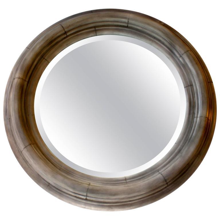 Belgium Carved Round Mirror