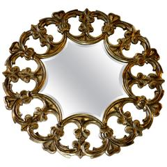 Silvered Gilt Carved Mirror