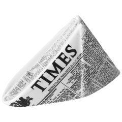 Mid-Century Modern Fornasetti Ceramic Newsprint Paperweight