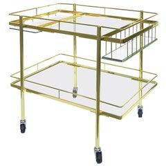 Cesare Lacca Brass Bar Cart