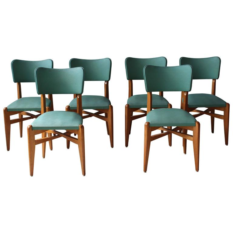 French 1950s Oak Chairs