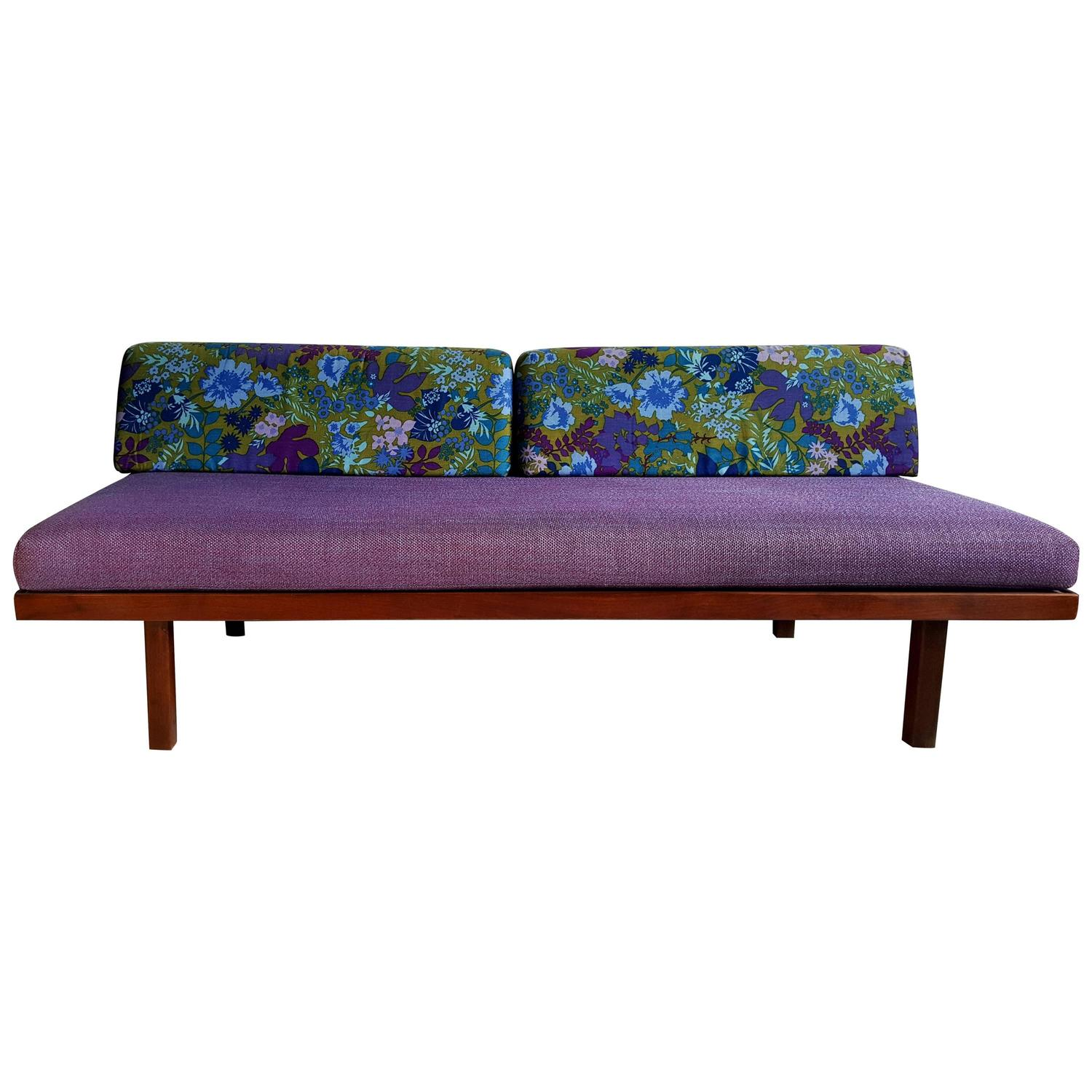 Mid century modern daybed sofa george nelson inspired for for Mid century daybed sofa