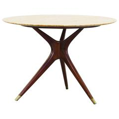 Rare Round Dining Table by Ico Parisi for Ariberto Colombo